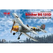 ICM 32030 BUCKER BU 131D WWII GERMAN TRAINING AIRCRAFT 1/32