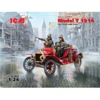 MODEL T 1914 POMPIERS + EQUIPAGE 1/24