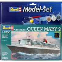 REVELL 65808 MODEL SET QUEEN MARY 2 1/1200