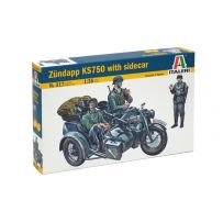 ITALERI 317 ZUNDAPP KS750 WITH SIDECAR 1/35
