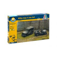ITALERI 7506 WILLYS JEEP 1/4 TON 4X4 FAST ASSEMBLY 1/72