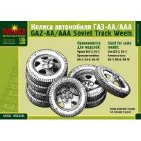 MSD 35006 SET OF WHEELS FOR GAZ-AA/AAA RUSSIAN TRUCKS 1/35