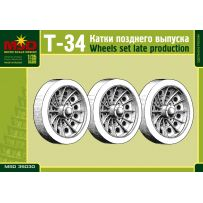MSD 35030 SET OF WHEELS FOR T-34 RUSSIAN TANK, LATE MODEL 1/35