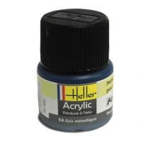 HELLER 09053 GRIS METALLIQUE X6 ACRYLIQUE 12ML