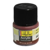 HELLER 09073 LIE DE VIN MAT X6 ACRYLIQUE 12ML