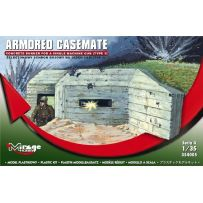 MIRAGE HOBBY 354005 ARMORED CASEMATE CONCRETE BUNKER FOR A SINGLE MACHINE GUN 1/35