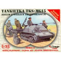 MIRAGE HOBBY 355015 TANKETTE TKS-MG15 WITH TRAILER 1/35