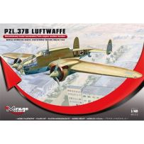 MIRAGE HOBBY 481312 PZL.37B LUFTWAFFE GERMAN VERSION OKECIE 1940' (TWIN-ENGINE MEDIUM BOMBER) 1/48