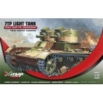 MIRAGE HOBBY 726002 LIGHT TANK '7TP TANK 'TWIN TURRET' 1/72