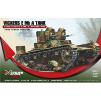 MIRAGE HOBBY 726003 TANK VICKERS E MK.A 'TWIN TURRET' 1/72
