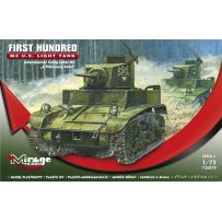 MIRAGE HOBBY 726070 M3 US LIGHT TANK 'FIRST HUNDRED' 1/72