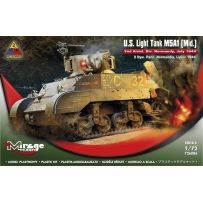 MIRAGE HOBBY 726086 U.S. LIGHT TANK M5A1 (MID.) '2ND ARMD. DIV. NORMANDY, JULY 1944' 1/72