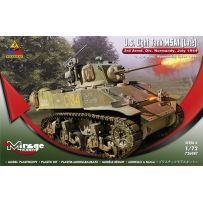 MIRAGE HOBBY 726087 U.S. LIGHT TANK M5A1 (LATE) '3RD ARMD. DIV. NORMANDY, JULY 1944' 1/72
