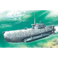 "ICM S006 U-BOAT TYPE XXVIIB ""SEEHUND"" (EARLY), WWII GERMAN MIDGET SUBMARINE 1:72"