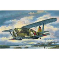"ICM 72074 I-153 ""CHAIKA"", WWII SOVIET BIPLANE FIGHTER 1:72"