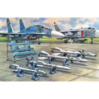 ICM 72212 SOVIET AIR-TO-AIR AIRCRAFT ARMAMENT (R-27ER, R-27ET, R-73, R-77 MISSILES) 1:72