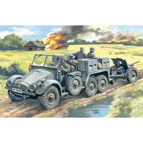 ICM 72461 KRUPP L2H143 KFZ.69 WITH PAK 36, GERMAN ARTILLERY TRACTOR 1:72