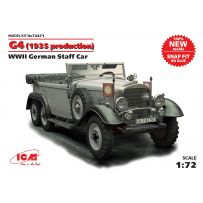 ICM 72471 G4 (1935 PRODUCTION), WWII GERMAN STAFF CAR, SNAP FIT/NO GLUE 1:72