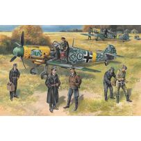 ICM 48803 BF 109F-2 WITH GERMAN PILOTS AND GROUND PERSONNEL 1:48