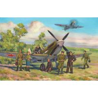 ICM 48802 SPITFIRE LF.IXE WITH SOVIET PILOTS AND GROUND PERSONNEL 1:48