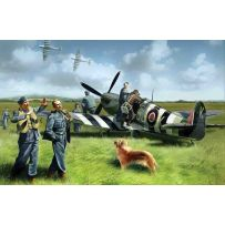 ICM 48801 SPITFIRE MK.IX WITH RAF PILOTS AND GROUND PERSONNEL 1:48