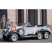ICM 35531 G4 (1939 PRODUCTION), GERMAN CAR WITH PASSENGERS (4 FIGURES) 1:35