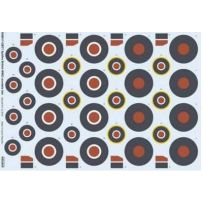 SPITFIRE BRITISH WW2 ROUNDELS LATE 1/48