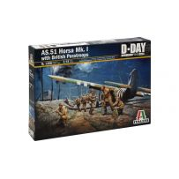 ITALERI 1356 AS.51 HORSA Mk.I with BRITISH PARATROOPS 1/62