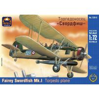 ARK MODELS 72013 FAIREY SWORDFISH MK.I BRITISH CARRIER-BORNE TORPEDO PLANE 1/72