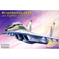 MIKOYAN-GUREVICH MIG-29UB RUSSIAN COMBAT TRAINING TACTICAL JET FIGHTER 1/72