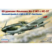 LIYUSHIN IL-2M3 RUSSIAN GROUND-ATTACK AIRCRAFT WITH NS-37 CANNONS 1/72