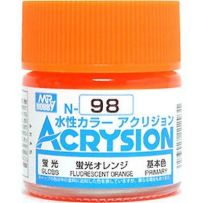 GUNZE N098 ACRYSION 10 ML FLUORESCENT ORANGE A L'UNITE