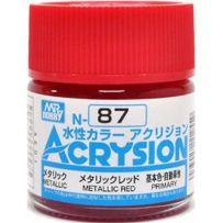 GUNZE N087 ACRYSION 10 ML METTALIC RED A L'UNITE