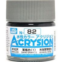 GUNZE N082 ACRYSION 10 ML DARK GREY (2) A L'UNITE