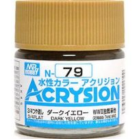 GUNZE N079 ACRYSION 10 ML DARK YELLOW A L'UNITE