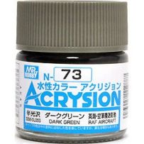 GUNZE N073 ACRYSION 10 ML DARK GREEN A L'UNITE