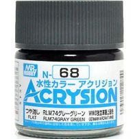 GUNZE N068 ACRYSION 10 ML RLM74 GREY GREEN A L'UNITE