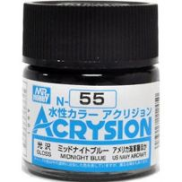 GUNZE N055 ACRYSION 10 ML MIDNIGHT BLUE A L'UNITE