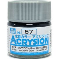 GUNZE N057 ACRYSION 10 ML AIRCRAFT GREY A L'UNITE