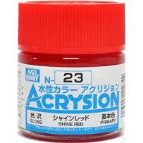 GUNZE N023 ACRYSION 10 ML SHINE RED A L'UNITE