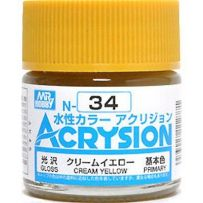 GUNZE N034 ACRYSION 10 ML CREAM YELLOW A L'UNITE