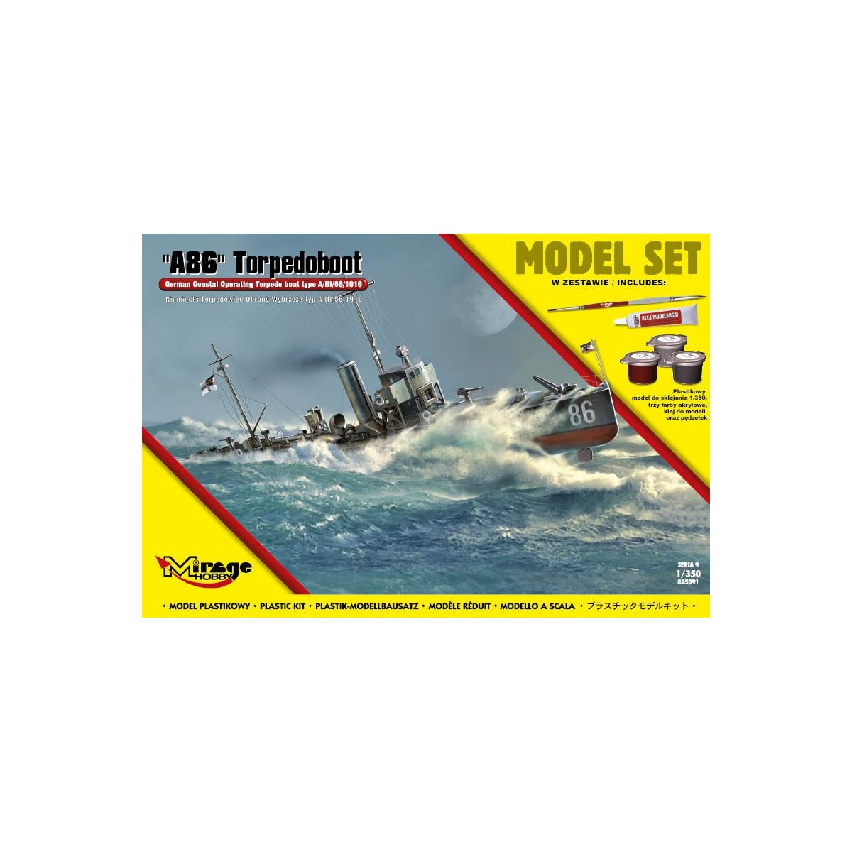 MIRAGE HOBBY MIRA845091 MIRAGE HOBBY 845091 [MODEL SET] A86 GERMAN TORPEDOBOOT 1