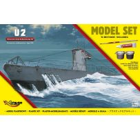 MIRAGE HOBBY 840065 [MODEL SET] U2 GERMAN SUBMARINE WW II TYPE IIA 1/400