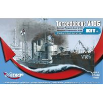 MIRAGE HOBBY 900001 GERMAN TORPEDOBOOT V106 [SERIES KIT+] KIT WITH DETAILED PHOTOETCHED PARTS 1/400