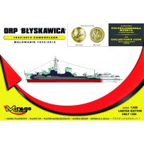 MIRAGE HOBBY 400001 ORP BYSKAWICA 1943/2012 CAMOUFLAGE NAVAL DESTROYER [ KIT WITH COLLECTORS COIN ] 1/400