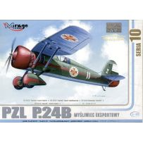 MIRAGE HOBBY 48104 PZL P-24B JASTREB WWII POLISH AF FIGHTER 1/48