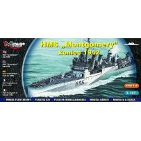 MIRAGE HOBBY 40607 HMS MONTGOMERY LATE 1942 1/400