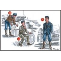 CMK F72046 FRENCH MECHANICS (2 FIG) AND PILOTS WWII 1/72