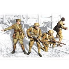 British Infantry 1917-1918 4 figures - 1 officer 3 soldiers 1/35