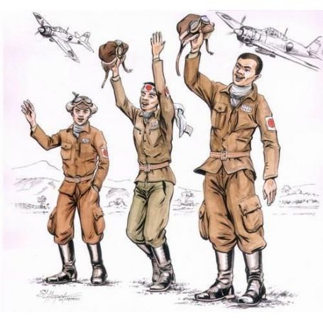 Japanese Kamikaze Pilots 1/72